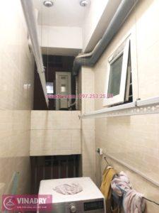 Lắp giàn phơi thông minh tại chung cư 25 Lạc Trung nhà anh Khiên bộ HP701 - 02