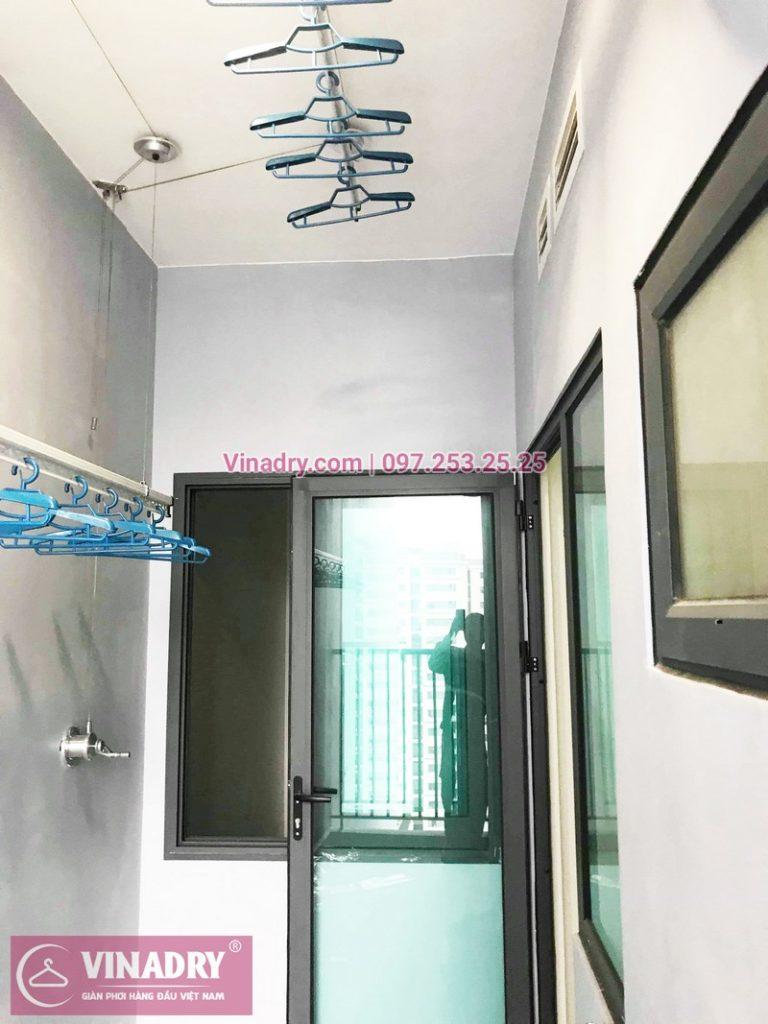 Lắp giàn phơi thông minh giá rẻ tại KĐT Gamuda nhà chị Yến, Tòa The one - 02