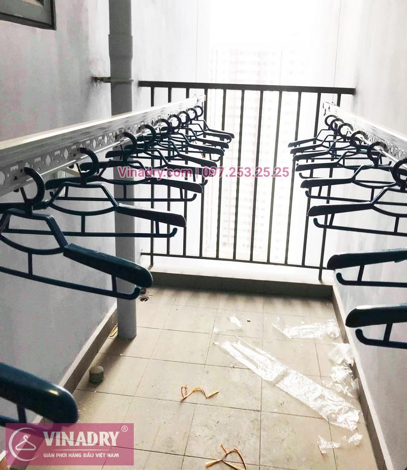 Lắp giàn phơi thông minh giá rẻ tại KĐT Gamuda nhà chị Yến, Tòa The one - 08