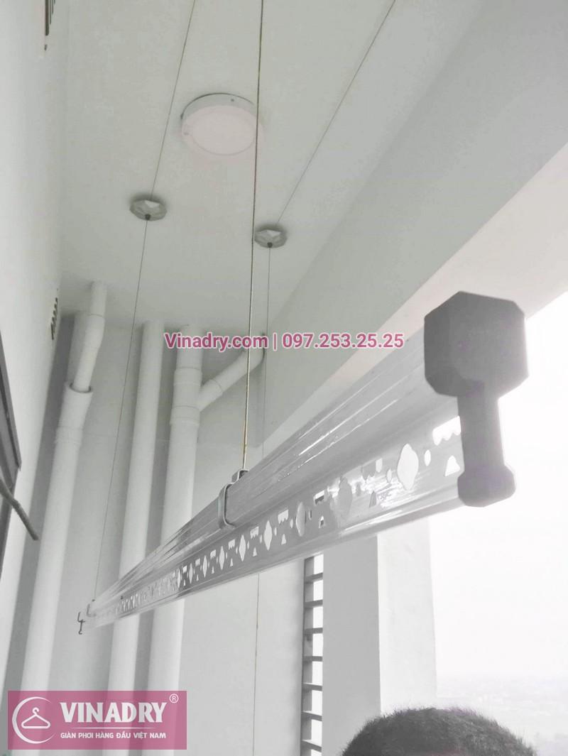 Bộ giàn phơi KS950 giá chỉ 1.090k lắp tại nhà chị Nhạn, chung cư 777 Giải Phóng - 02
