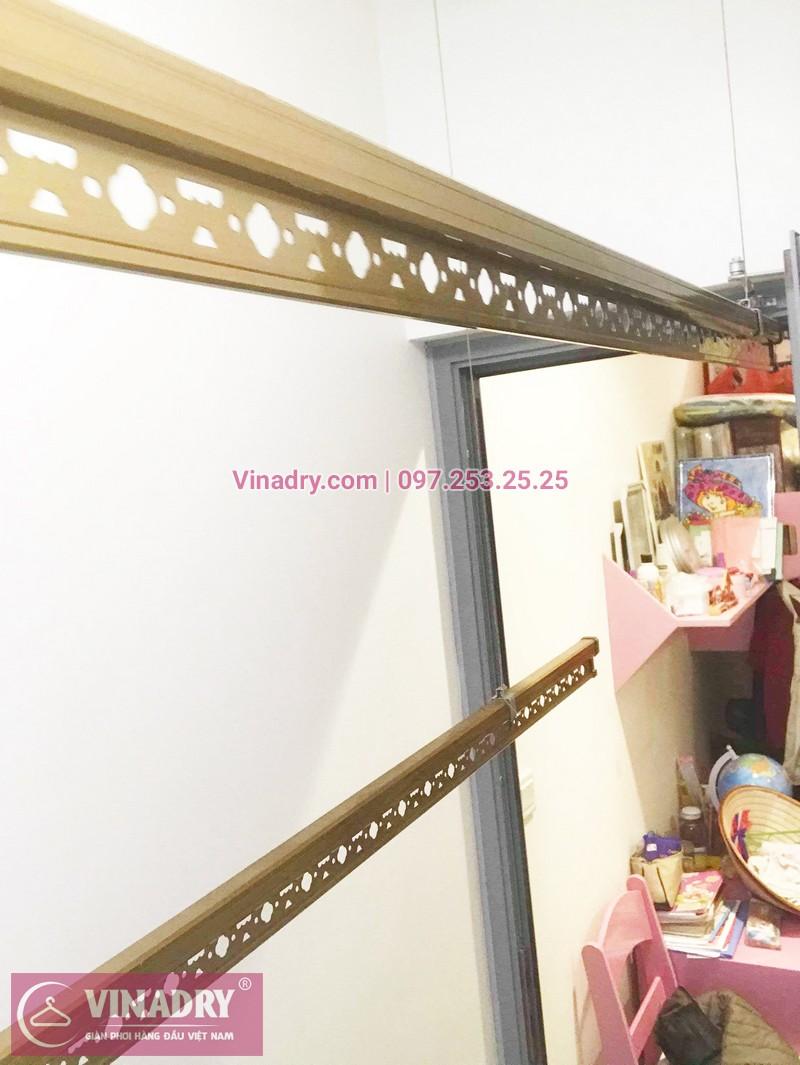 Ảnh thực tế bộ giàn phơi giá rẻ KG900 lắp tại Goldmark City nhà anh Tiềm - 01