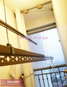Ảnh thực tế bộ giàn phơi giá rẻ KG900 lắp tại Goldmark City nhà anh Tiềm - 02