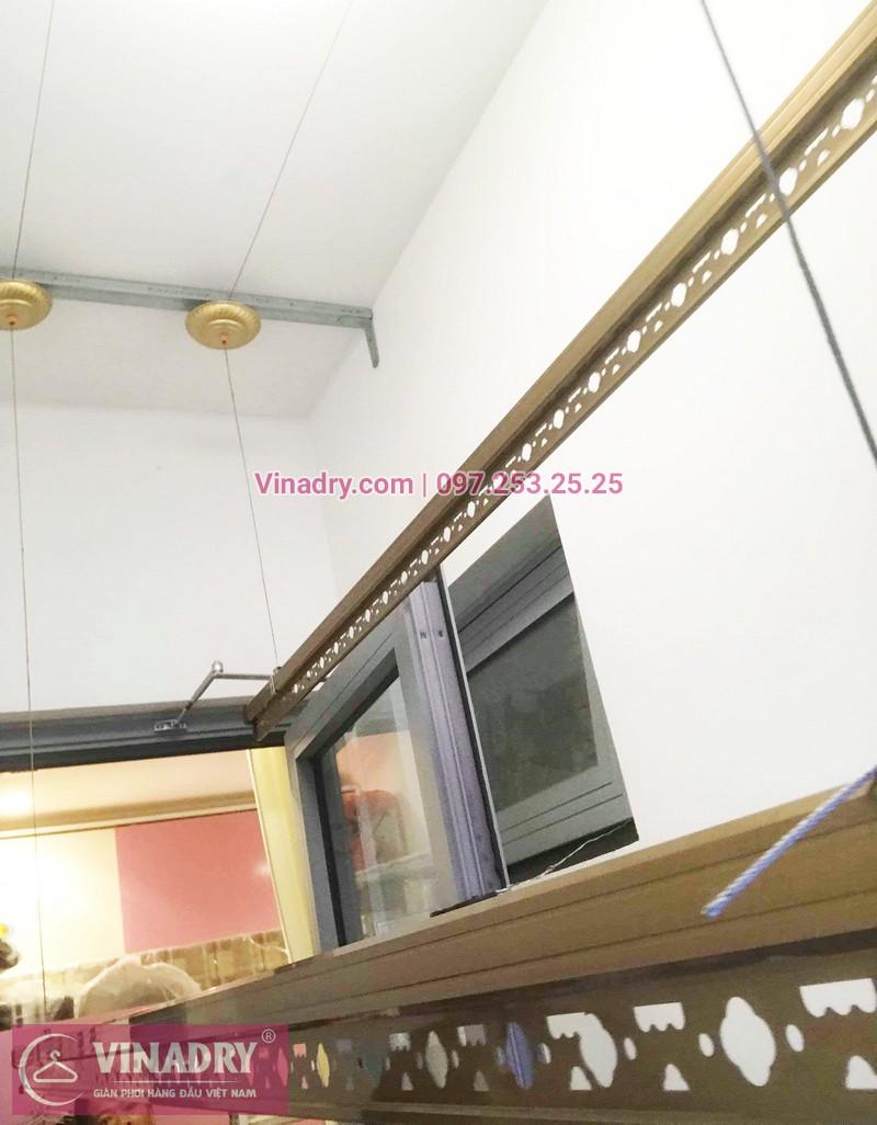 Ảnh thực tế bộ giàn phơi giá rẻ KG900 lắp tại Goldmark City nhà anh Tiềm - 04