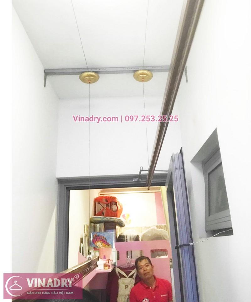 Ảnh thực tế bộ giàn phơi giá rẻ KG900 lắp tại Goldmark City nhà anh Tiềm - 06