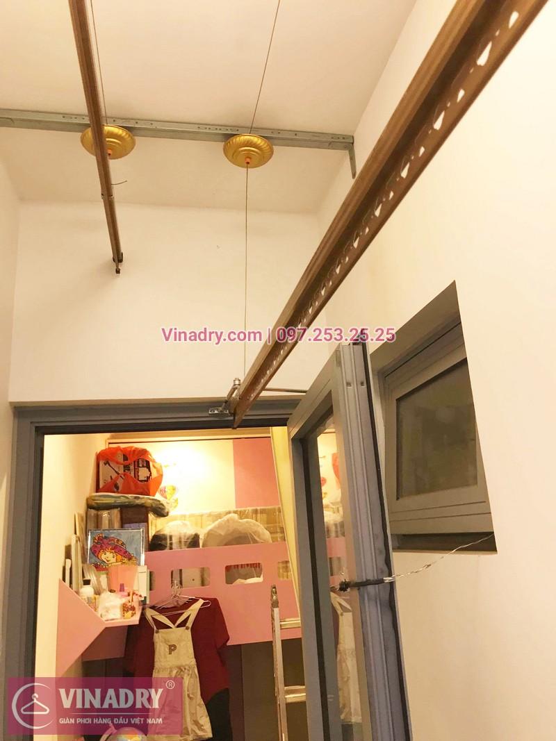 Ảnh thực tế bộ giàn phơi giá rẻ KG900 lắp tại Goldmark City nhà anh Tiềm - 08