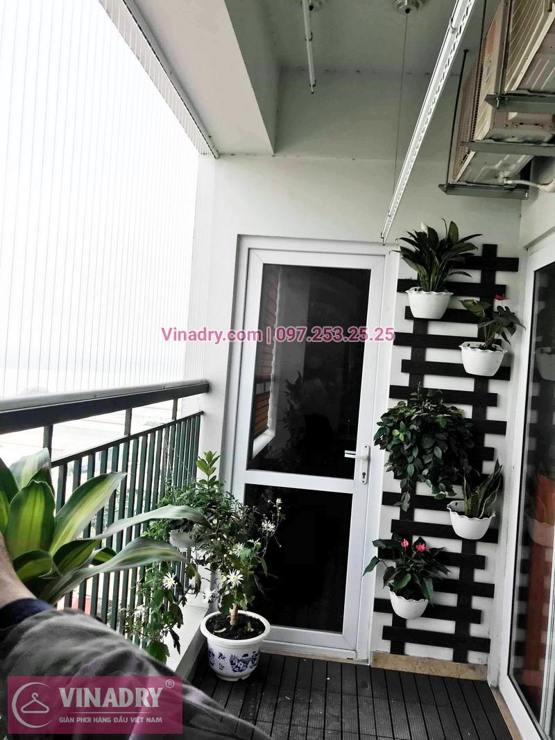 Đẹp ngất ngây! giàn phơi HP701 lắp tại chung cư UDIC Riverside nhà anh Thiện - 01