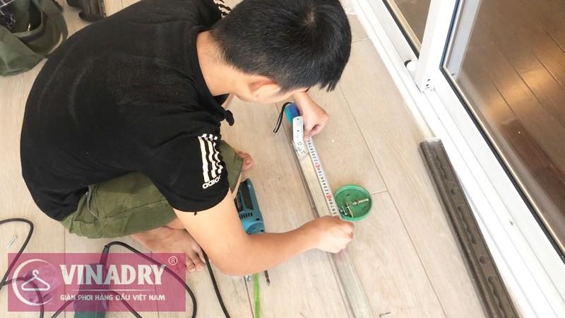 Vinadry GP941 - Mẫu giàn phơi tốt nhất 2019 lắp tại chung cư Hà Nội Aqua Central - 03