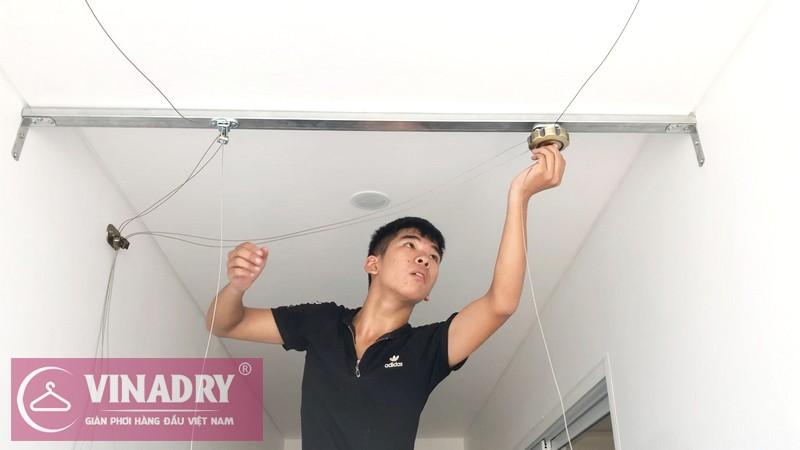 Vinadry GP941 - Mẫu giàn phơi tốt nhất 2019 lắp tại chung cư Hà Nội Aqua Central - 06