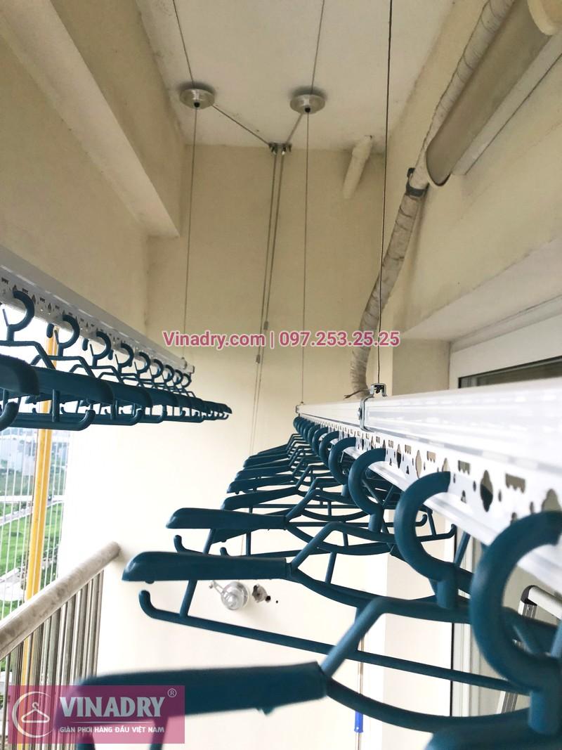Tháo giàn phơi cũ, lắp mới bộ HP701 tại nhà anh Chiến, căn 1802, chung cư CT8B Dương Nội - 01