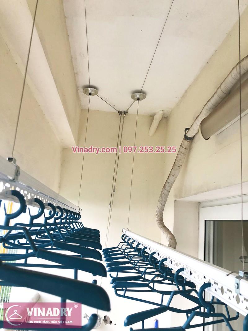 Tháo giàn phơi cũ, lắp mới bộ HP701 tại nhà anh Chiến, căn 1802, chung cư CT8B Dương Nội - 05