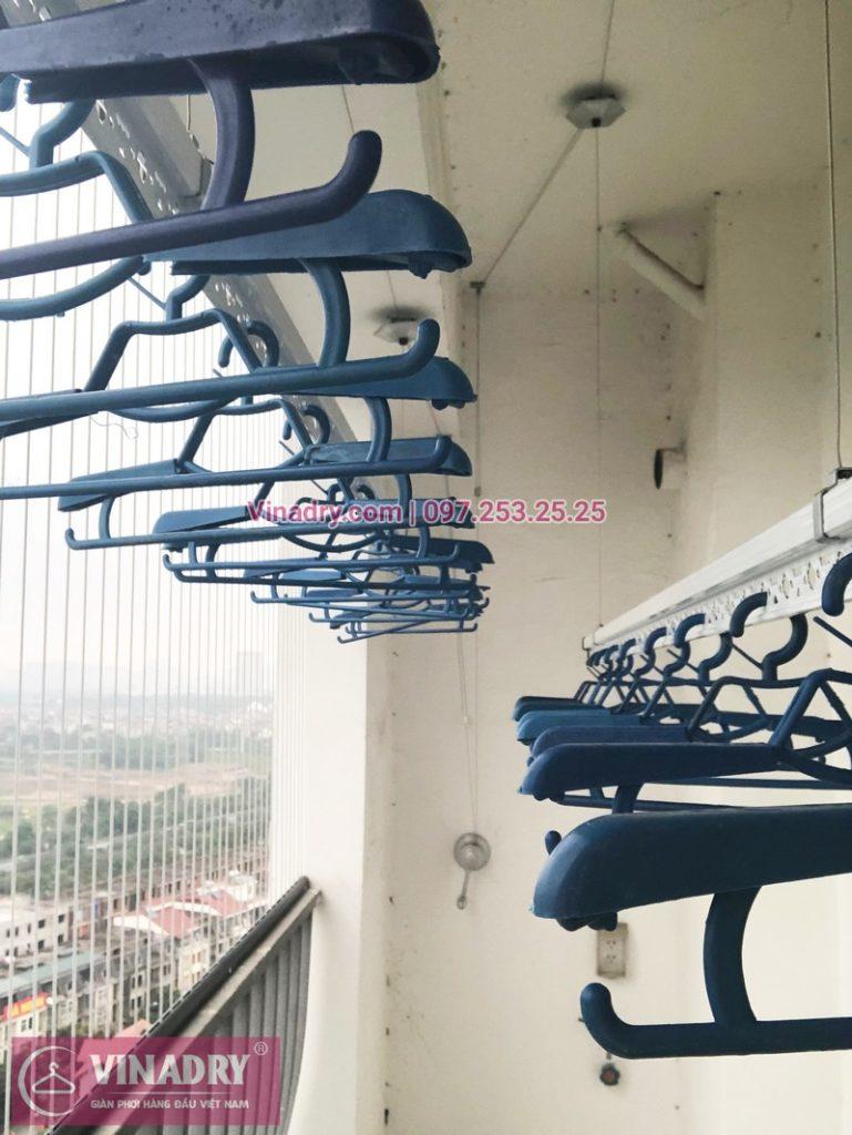 Lắp giàn phơi thông minh Hà Đông nhà anh Tấn, tòa A2, chung cư Gemek Tower - 05