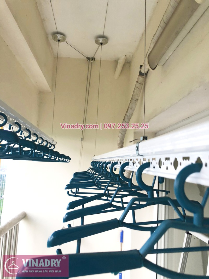 Tháo giàn phơi cũ, lắp mới bộ HP701 tại nhà anh Chiến, căn 1802, chung cư CT8B Dương Nội - 06
