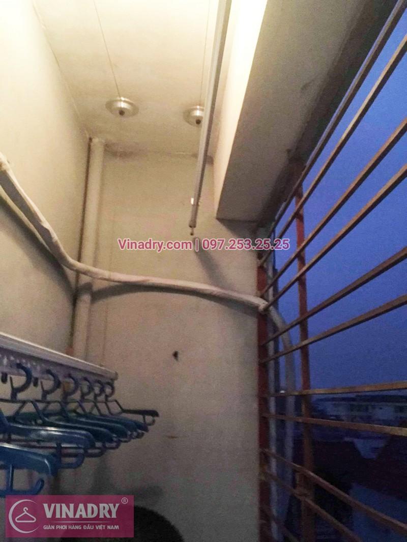 Lắp giàn phơi giá rẻ tại Long Biên nhà chú Mẫn, chung cư ngõ 640 Nguyễn Văn Cừ - 06