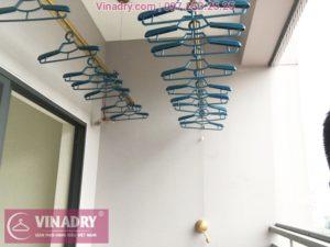 Lắp giàn phơi tại Nam Từ Liêm bộ KG900 nhà chị Huế, chung cư Viwaseen Tower - 06