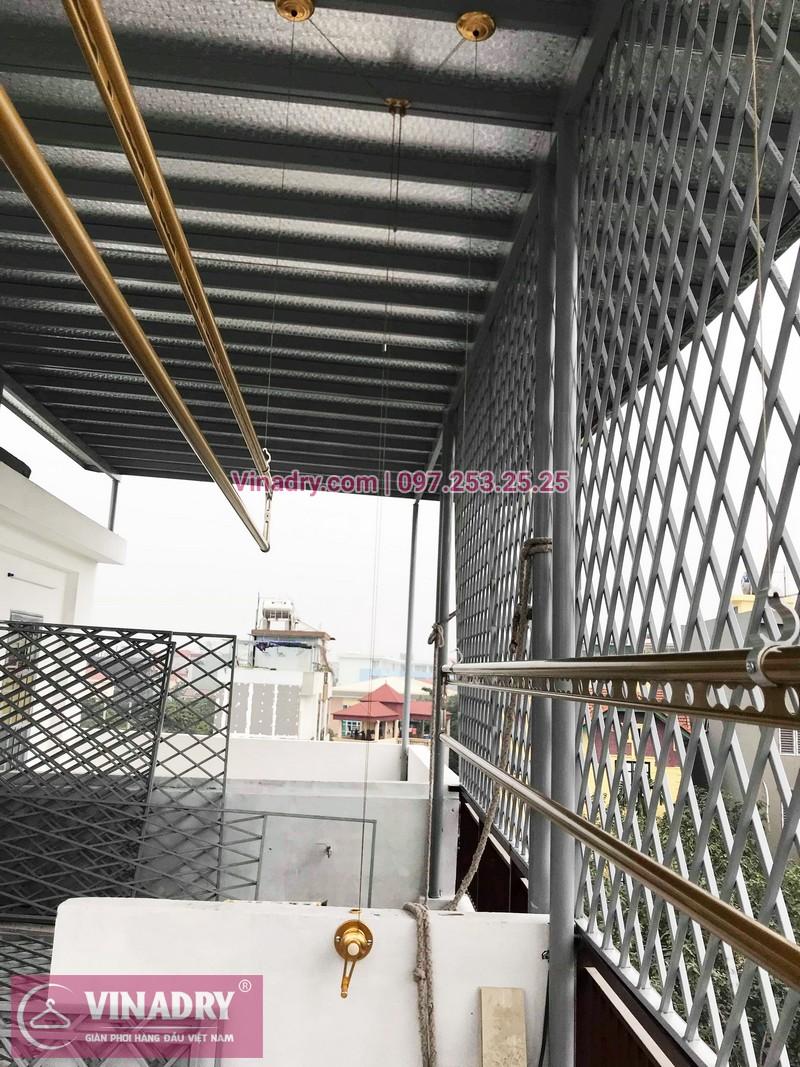 Giàn phơi hp 702 màu vàng sang trọng lắp tại Long Biên nhà chị Hường - 07