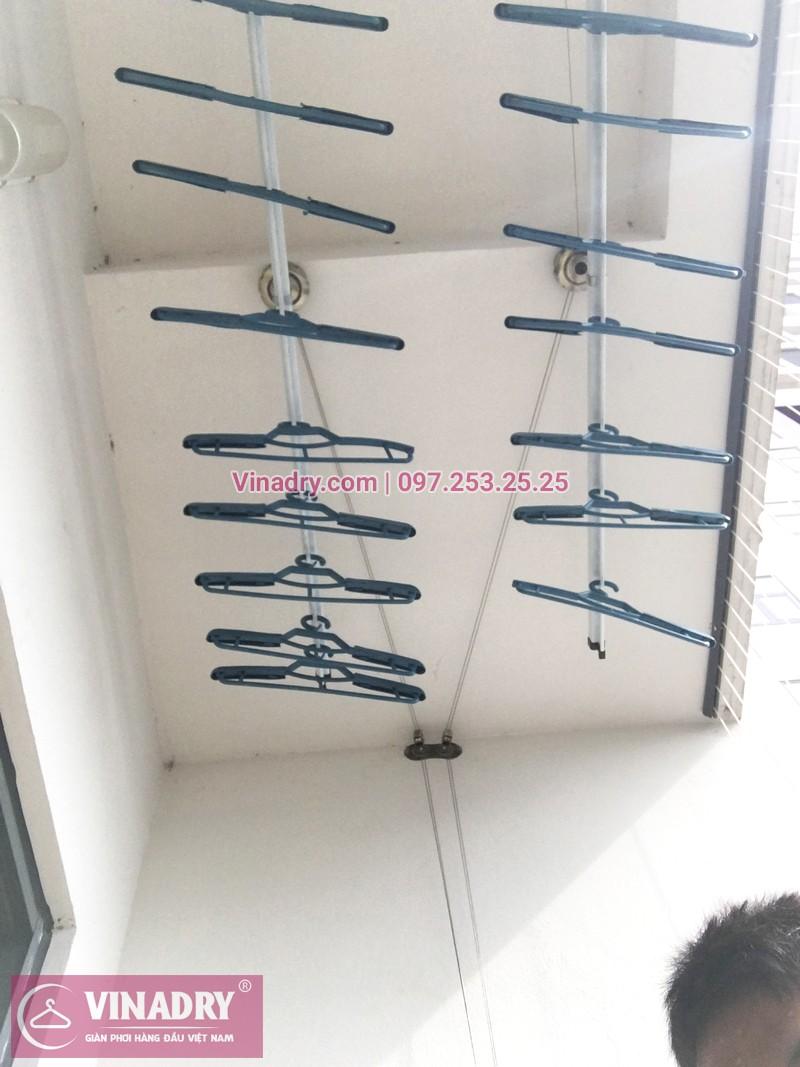 Lắp giàn phơi thông minh kèm lưới an toàn ban công tại chung cư HPC Landmark 105 Hà Đông - 06