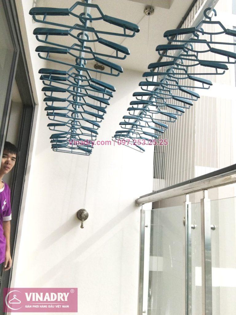 Lắp giàn phơi thông minh kèm lưới an toàn ban công tại chung cư HPC Landmark 105 Hà Đông - 01