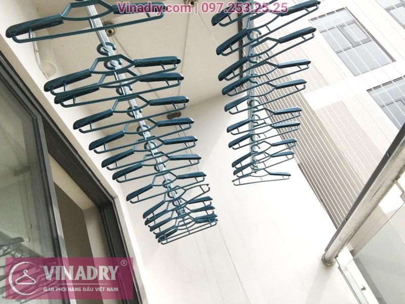 Lắp giàn phơi thông minh kèm lưới an toàn ban công tại chung cư HPC Landmark 105 Hà Đông - 03