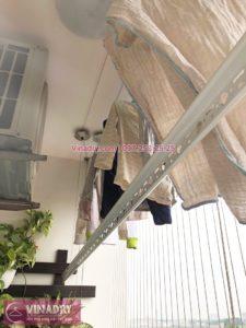 Sửa giàn phơi, thay dây cáp nhà chị Luận, chung cư CT1 Xuân Phương - 01