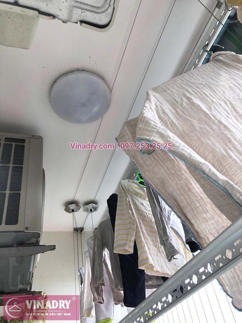 Sửa giàn phơi, thay dây cáp nhà chị Luận, chung cư CT1 Xuân Phương - 02