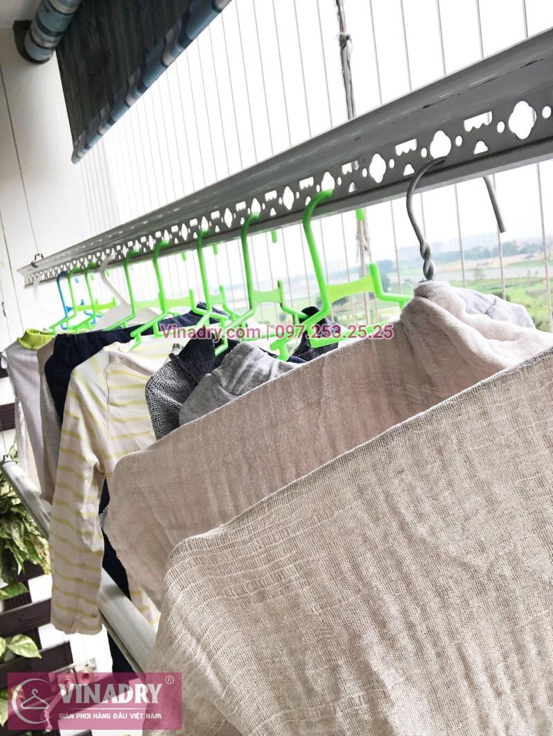 Sửa giàn phơi, thay dây cáp nhà chị Luận, chung cư CT1 Xuân Phương - 04