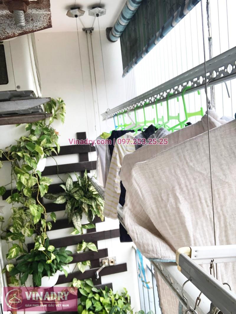 Sửa giàn phơi, thay dây cáp nhà chị Luận, chung cư CT1 Xuân Phương - 06
