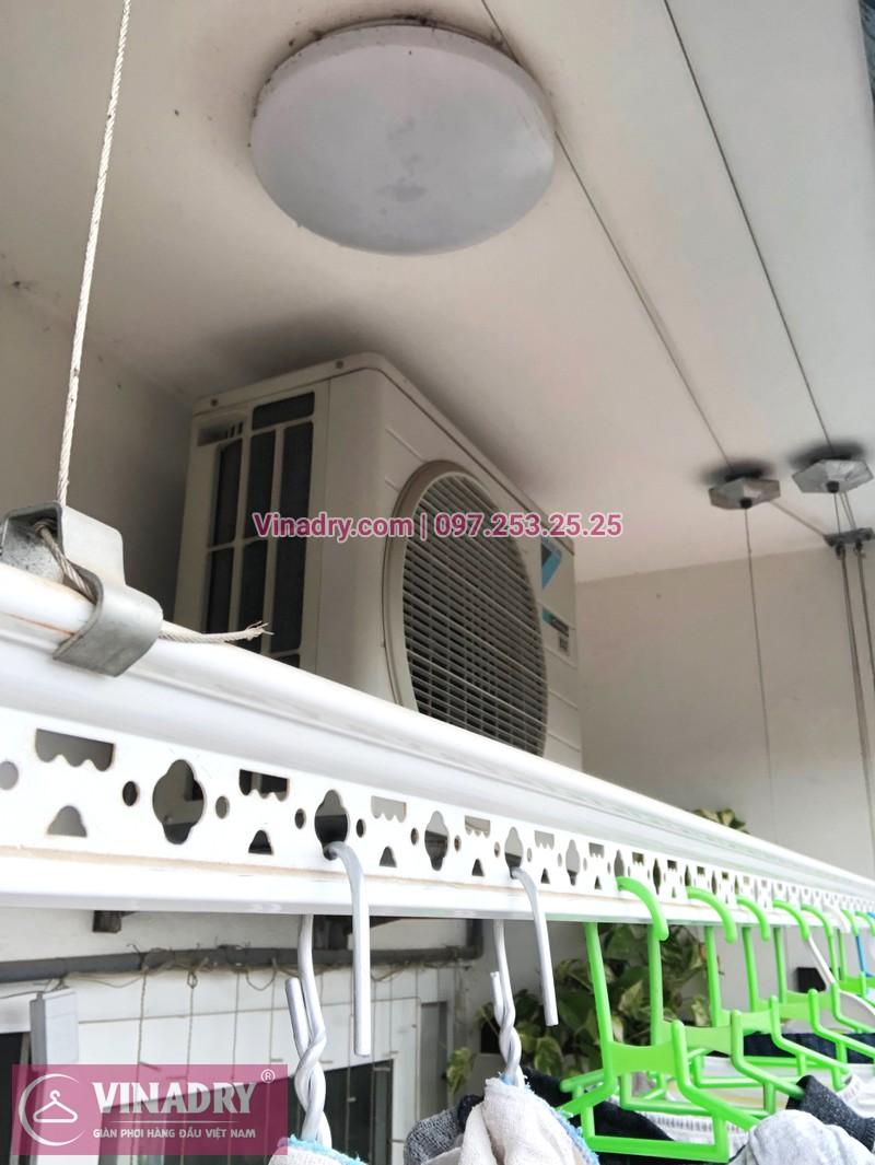 Sửa giàn phơi, thay dây cáp nhà chị Luận, chung cư CT1 Xuân Phương - 07