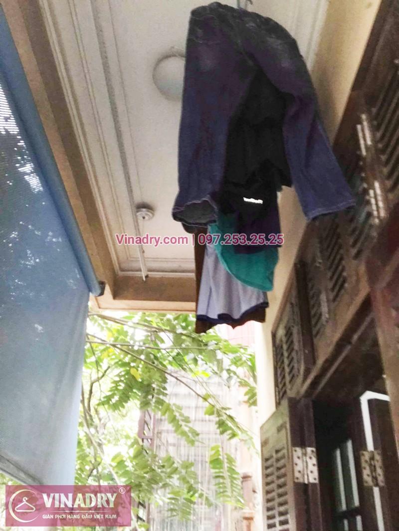 Thay 1 dây cáp giàn phơi phơi tại nhà chị Dao, phố Lê Ngọc Hân, Hà Nội - 01