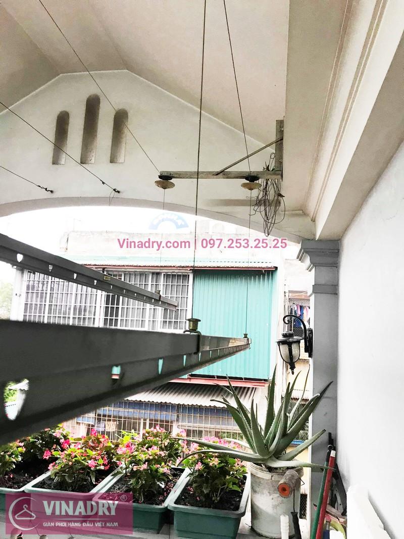 Vinadry sửa giàn phơi, thay dây cáp tại nhà chị Hoa, ngõ Hòa Bình, Hai Bà Trưng - 06