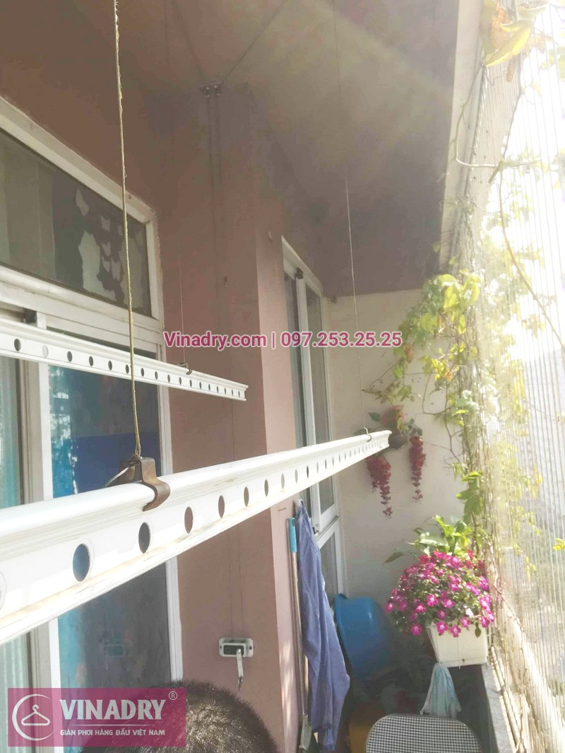 Thay củ quay giàn phơi thông minh nhà chị Loan, tòa CT10, KĐT Việt Hưng - 05