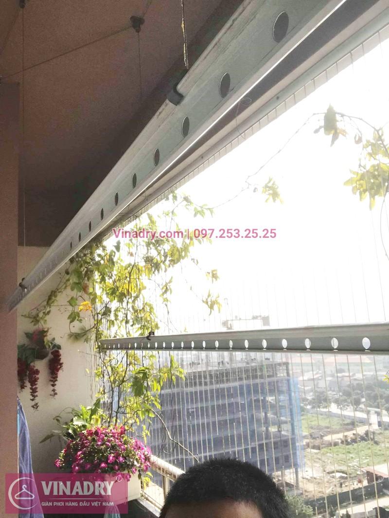 Thay củ quay giàn phơi thông minh nhà chị Loan, tòa CT10, KĐT Việt Hưng - 01