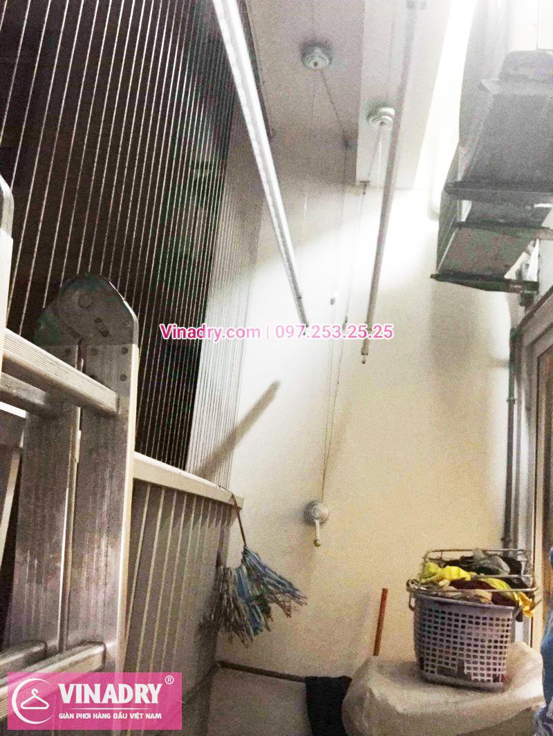 Sửa giàn phơi tại chung cư K33 bộ quốc phòng nhà chị Thơm tòa C3 -01