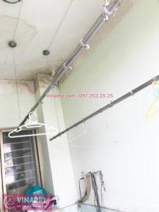 Sửa giàn phơi thông minh inox tại nhà chị Vân, tòa K7, KĐT Việt Hưng - 03