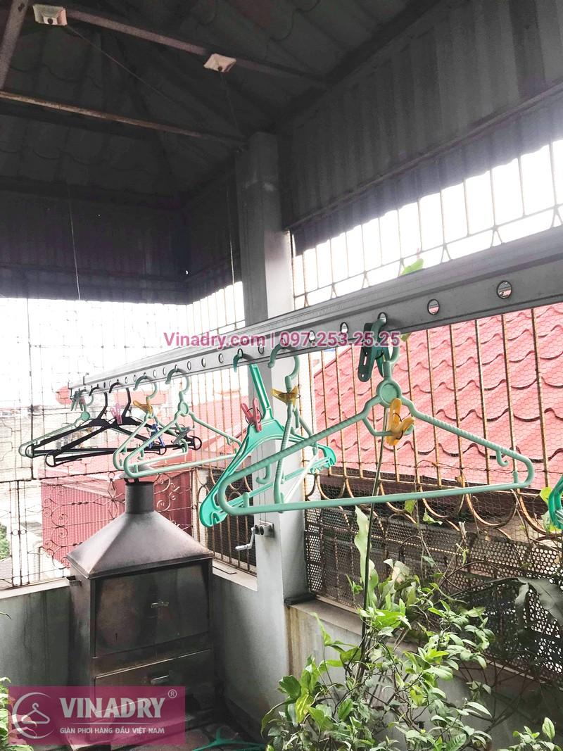 Ảnh và báo giá sửa giàn phơi thông minh tại nhà anh Cảnh, ngõ 191 Thạch Bàn, Long Biên - 02