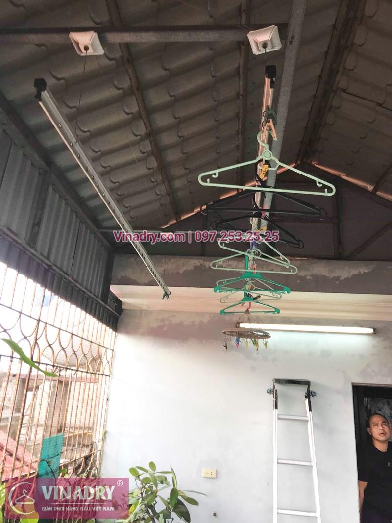 Ảnh và báo giá sửa giàn phơi thông minh tại nhà anh Cảnh, ngõ 191 Thạch Bàn, Long Biên - 04