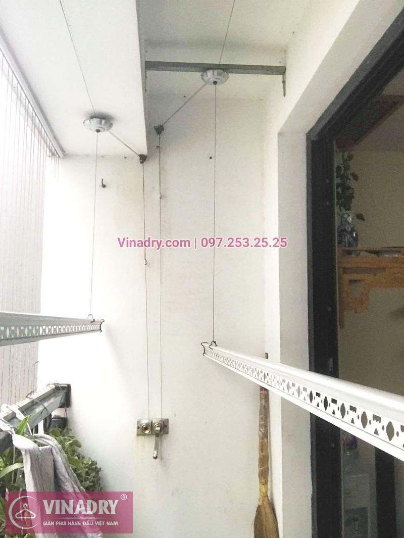 Sửa giàn phơi bị đứt cáp nhà chị Ngọc, tòa T5, Times City -07