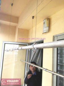 Sửa giàn phơi thông minh Hoàng Mai nhà anh Định, chung cư HUD3 Nguyễn Đức Cảnh- 03