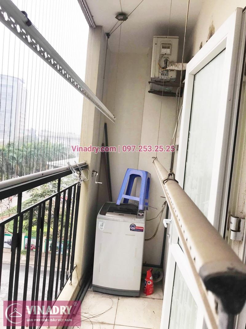 Thay dây giàn phơi thông minh giá rẻ tại nhà chị Minh, KĐT Việt Hưng - 01