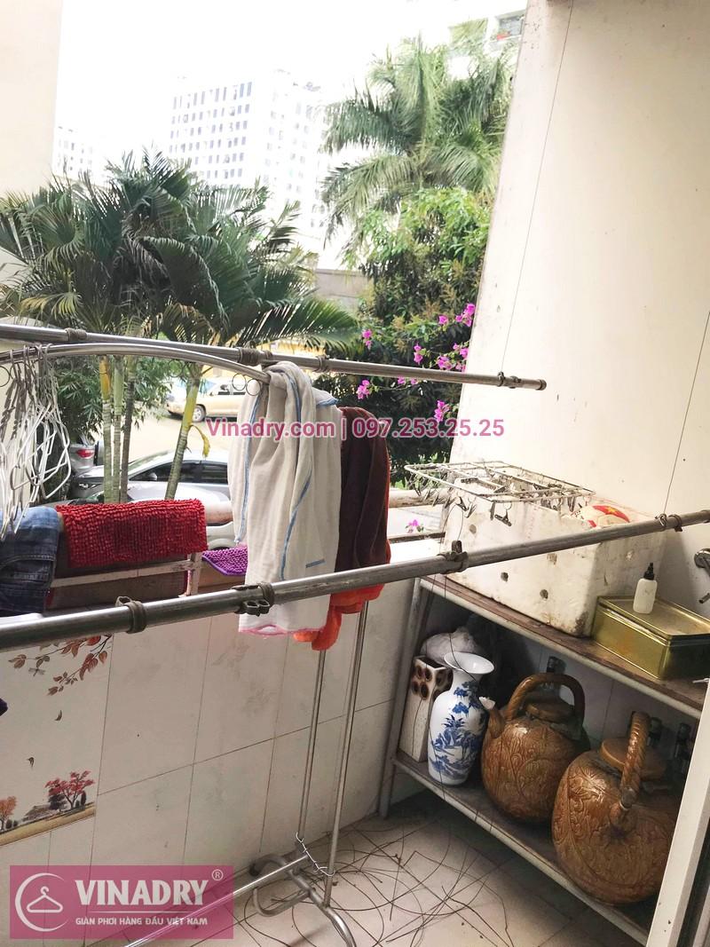 Báo giá thay dây giàn phơi 2019, ảnh sửa thực tế tại KĐT Việt Hưng - 07