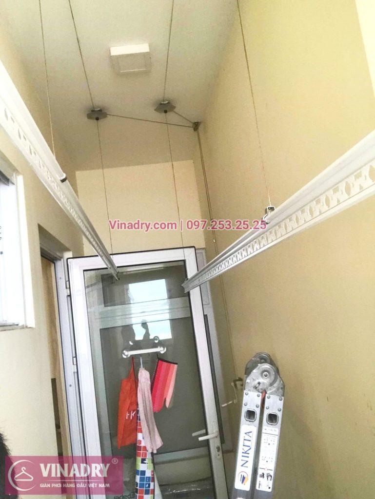 Thay dây cáp giàn phơi tại Long Biên giá rẻ, ảnh sửa thực tế tại chung cư ecohome phúc lợi - 05