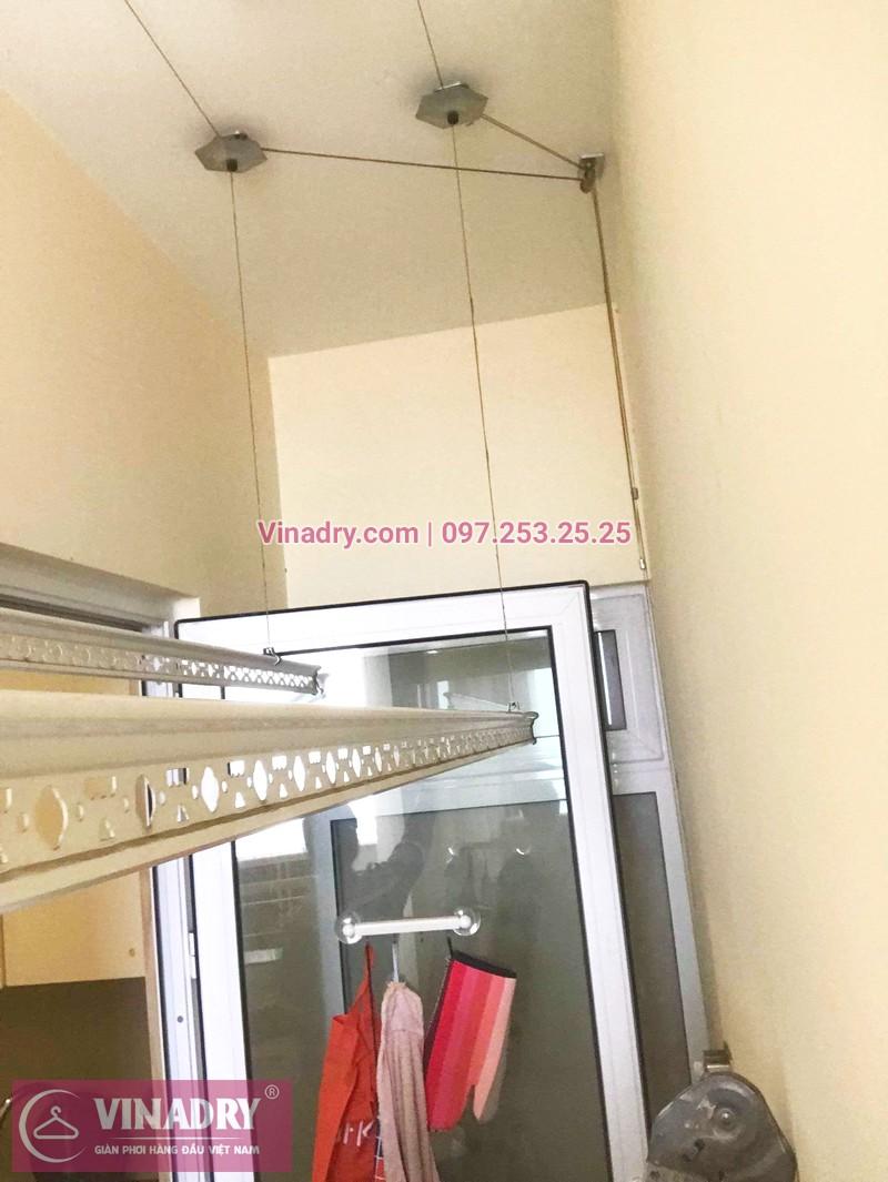 Thay dây cáp giàn phơi tại Long Biên giá rẻ, ảnh sửa thực tế tại chung cư ecohome phúc lợi - 07