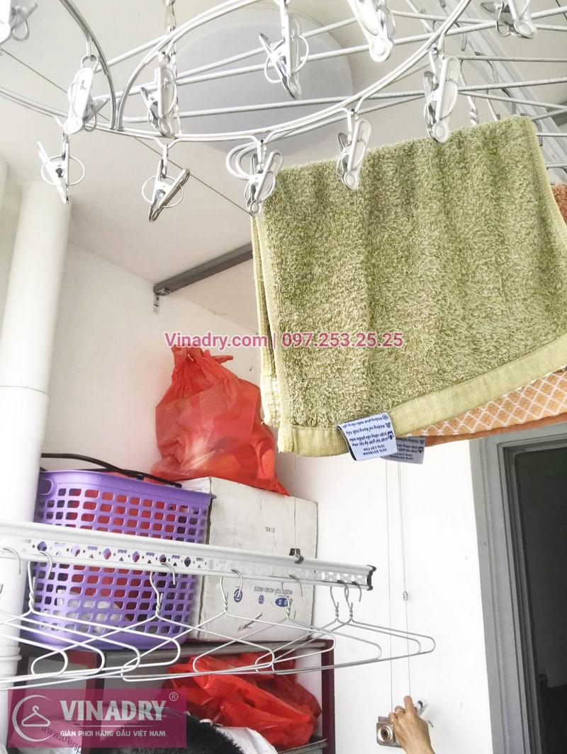 Sửa giàn phơi thông minh chung cư nhà cô Toàn, Tòa T8 Times City - 02