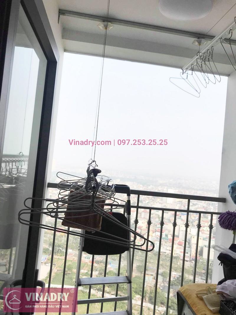 Sửa giàn phơi thông minh chung cư nhà cô Toàn, Tòa T8 Times City - 07