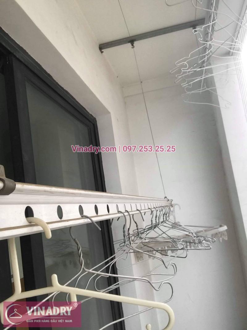 Thay dây cáp giàn phơi thông minh tại Times City nhà chị Hào, tòa T9 - 06