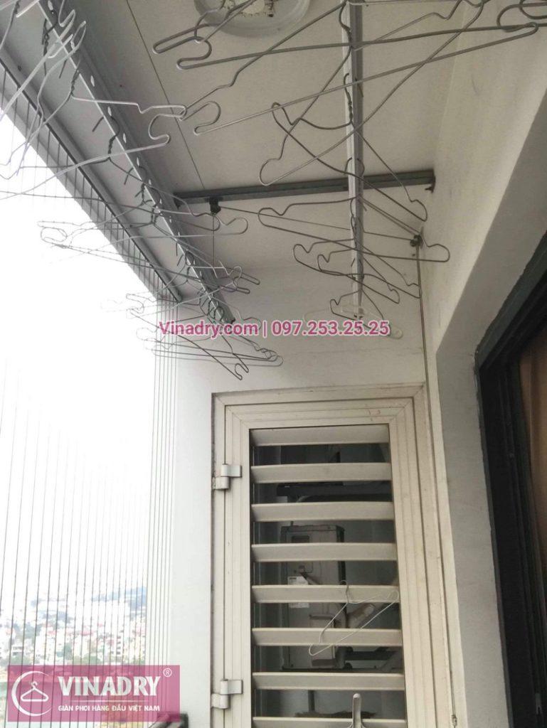 Thay dây cáp giàn phơi thông minh tại Times City nhà chị Hào, tòa T9 - 07