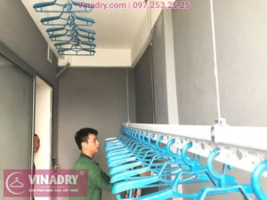 Lắp giàn phơi giá rẻ Hòa Phát Star 701 tại chung cư Eco City nhà anh Liêm - 01