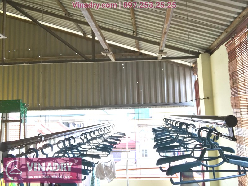 Lắp giàn phơi thông minh Vinadry GP902 nhà anh Hiển, ngõ 58 Đào Tấn, Ba Đình, Hà Nội - 06