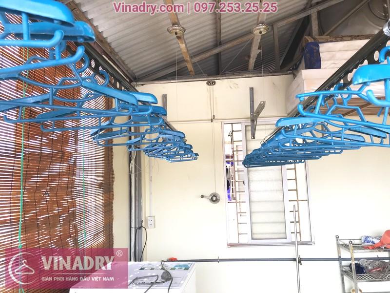Lắp giàn phơi thông minh Vinadry GP902 nhà anh Hiển, ngõ 58 Đào Tấn, Ba Đình, Hà Nội - 01