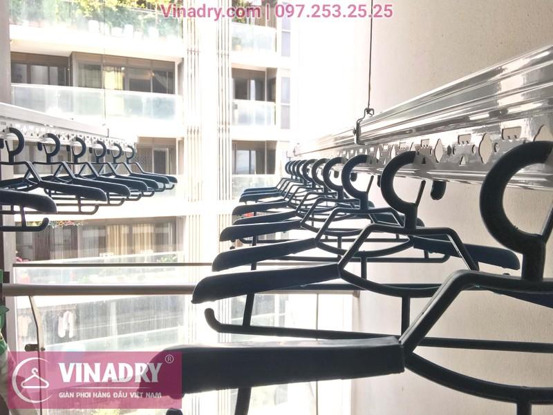 """Hình ảnh giàn phơi thông minh """"ăn khách"""" nhất 2019 lắp tại chung cư TSQ Mỗ Lao, Hà Đông - 02"""