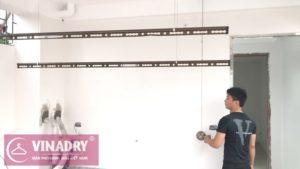 Giàn phơi thông minh Vinadry GP941 lắp tại nhà anh Tâm, ngõ 230 Đinh Công Thượng - 07